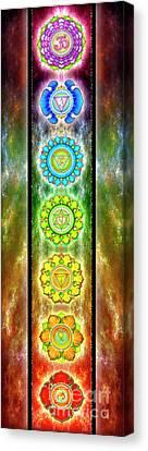 The Seven Chakras - Series 3 Canvas Print by Dirk Czarnota