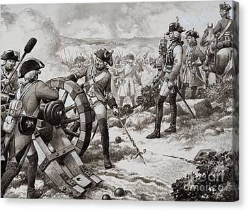 Artillery Canvas Print - The Seven Years' War by Pat Nicolle