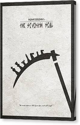Canvas Print featuring the digital art The Seventh Seal Aka Det Sjunde Inseglet by Ayse Deniz