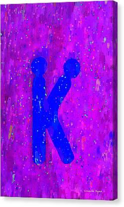 Fun Canvas Print - The Sexy K  - Blue -  - Da by Leonardo Digenio