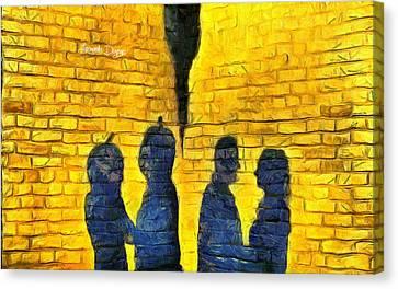 Copies Canvas Print - The Shadow - Da by Leonardo Digenio