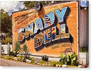 The Shady Dell Bisbee Az Canvas Print by Lynn Andrews
