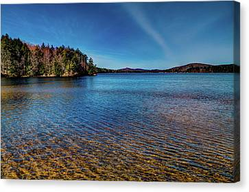 The Shallow Water Of 7th Lake Canvas Print by David Patterson
