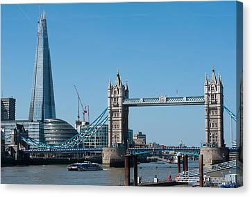 The Shard With Tower Bridge Canvas Print