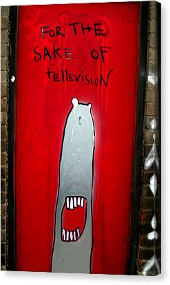 The Sharker Side Of Tv Canvas Print by Jez C Self