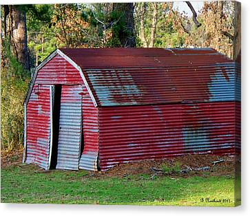 The Shed Canvas Print by Betty Northcutt