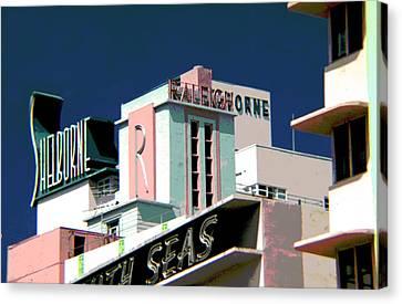 Atlanta Convention Canvas Print - The Shelborne Hotel Miami Florida by Corky Willis Atlanta Photography