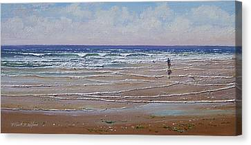 The Shell Collector Canvas Print by Frank Wilson