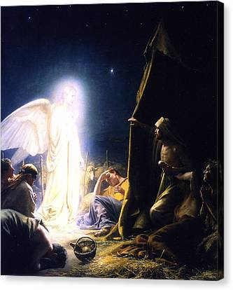 The Sheperds And The Angel Canvas Print
