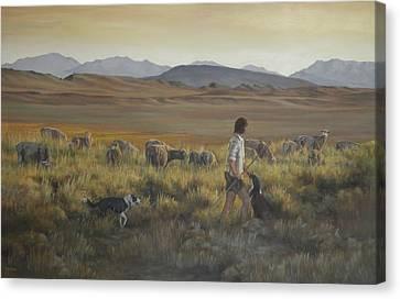 Art Of Mia Delode Canvas Print - The Shepherdess by Mia DeLode