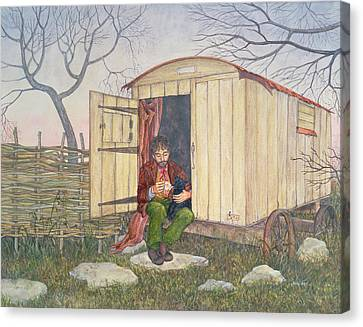 The Shepherd's Hut Canvas Print by Ditz