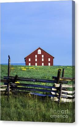 The Sherfy Farm At Gettysburg Canvas Print by John Greim