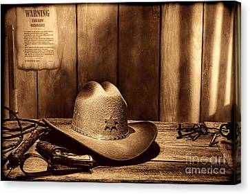 The Sheriff Office Canvas Print by American West Legend By Olivier Le Queinec