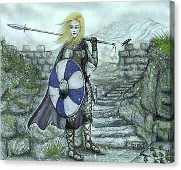 The Shieldmaiden Canvas Print