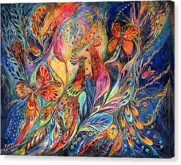 The Shining Of The Night Canvas Print by Elena Kotliarker