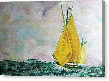 The Ship Canvas Print by Melanie Gervais