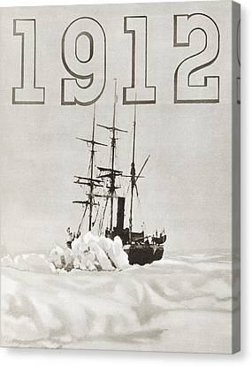 Terra Canvas Print - The Ship Terra Nova Used By Robert by Vintage Design Pics