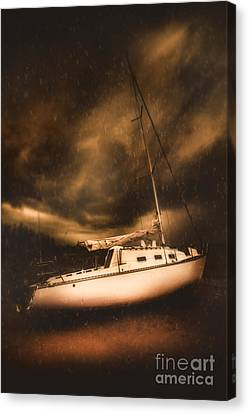The Shipwreck And The Storm Canvas Print by Jorgo Photography - Wall Art Gallery