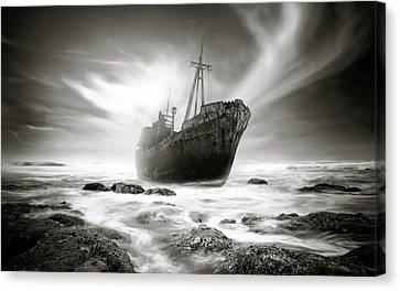 The Shipwreck Canvas Print by Marius Sipa