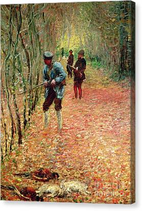 The Shoot Canvas Print by Claude Monet