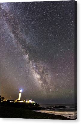 Canvas Print featuring the photograph The Shore Of Night by Alex Lapidus