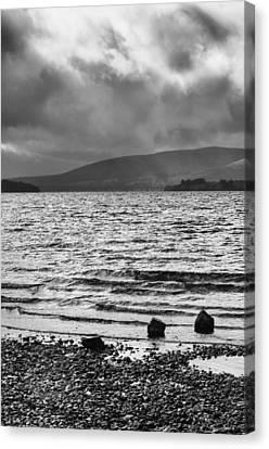 The Shores Of Loch Lubnaig Canvas Print by Christi Kraft