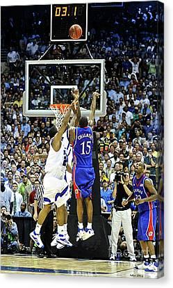 The Shot, 3.1 Seconds, Mario Chalmers Magic, Kansas Basketball 2008 Ncaa Championship Canvas Print
