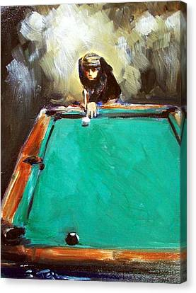 The Shot Canvas Print by Sheila Tajima