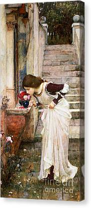 The Shrine Canvas Print by John William Waterhouse