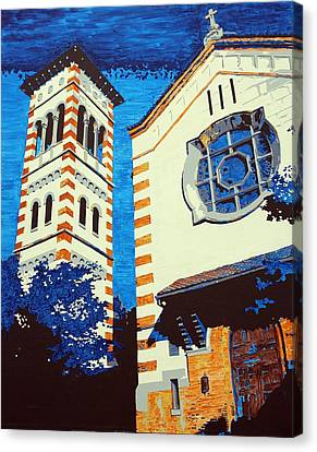 The Shrine Of The Miraculous Medal Canvas Print by Sheri Buchheit