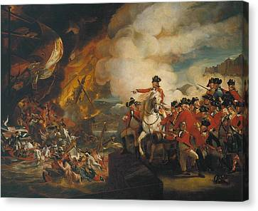 The Siege And Relief Of Gibraltar Canvas Print