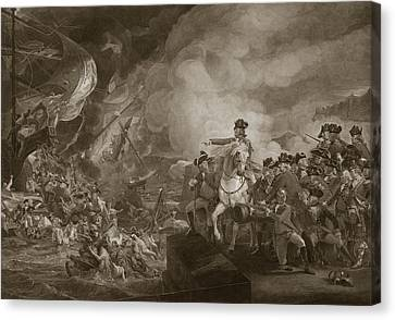 The Siege And Relief Of Gibraltar Canvas Print by John Singleton Copley