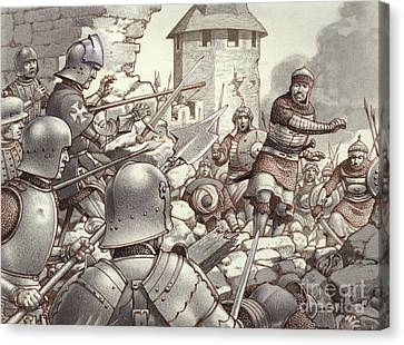The Siege Of Rhodes Of 1522  Canvas Print by Pat Nicolle