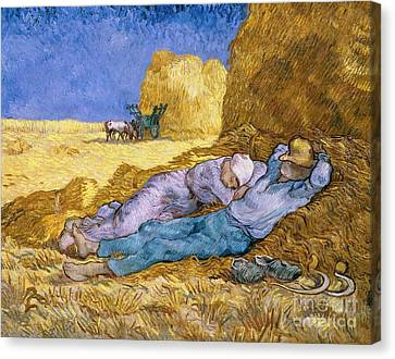 1890 Canvas Print - The Siesta by Vincent Van Gogh