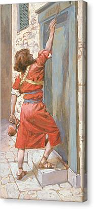 The Signs On The Door Canvas Print by James Tissot