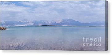 Canvas Print featuring the photograph The Silence Of The Dead Sea by Yoel Koskas