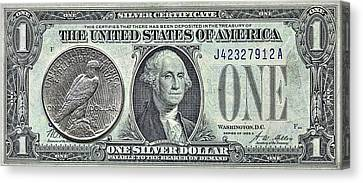 The Silver Certificate Canvas Print by JC Findley