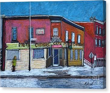 The Silver Dragon Restaurant Verdun Canvas Print by Reb Frost