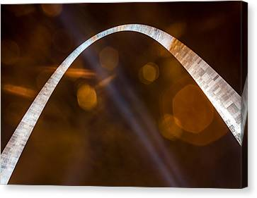 The Silver Gateway Arch Canvas Print