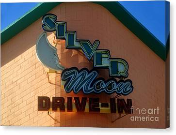 Silver Moon Drive In Canvas Print - The Silver Moon by David Lee Thompson