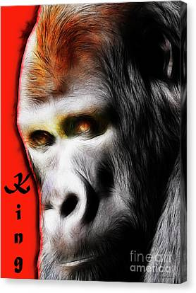 The Silverback Gorilla . King Of The Jungle Canvas Print by Wingsdomain Art and Photography