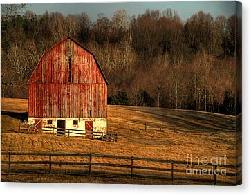 Old Barns Canvas Print - The Simple Life by Lois Bryan