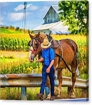 The Simple Life - Paint Canvas Print