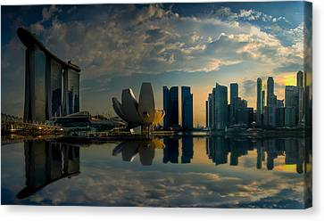 The Singapore Skyline Canvas Print