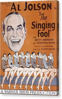 The Singing Fool, Al Jolson, 1928 Canvas Print