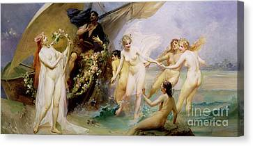 The Sirens Canvas Print by Edouard Veith