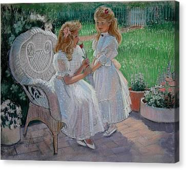 The Sister's Garden Canvas Print by Sue Halstenberg