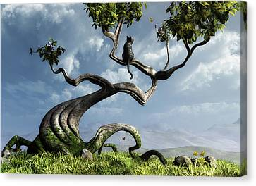 Children Canvas Print - The Sitting Tree by Cynthia Decker
