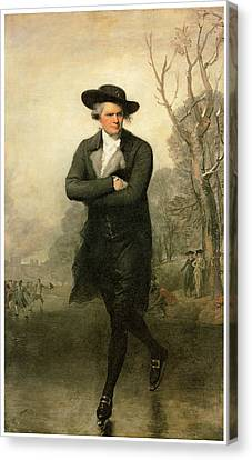 The Skater Portriat Of William Grant Canvas Print by Gilbert Stuart