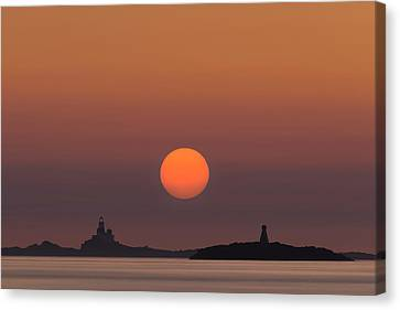 The Skerries Lighthouse  Canvas Print by Andy Astbury